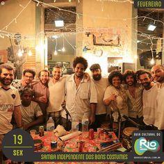 Música na Casa: Samba Independente dos Bons Costumes   domingo, 19/02/17   Preço: grátis   Horário: 17:00   Casa França-Brasil - Avenida Visconde de Itaboraí, 78 – Centro