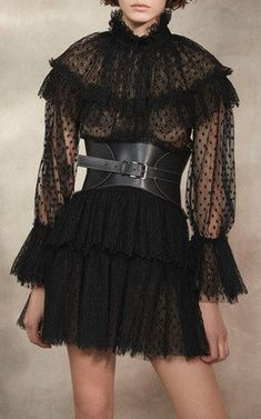 Ruffled Tulle Dress by Alberta Ferretti Pre-Fall 2018
