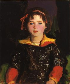 Bridgie (also known as Girl with Chinese Dress) - Robert Henri, 1927
