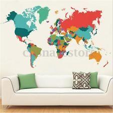 Inicio Mapa Mundo Vinilo Etiqueta Pegatinas Pared Dormitorio Ventana Arte Mural