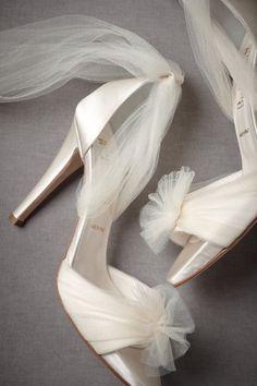 Ivory Auroral Vapor Heels | BHLDN