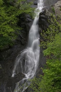 Waterfall in White Oak Canyon in Shenandoah National Park, Virginia
