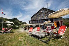 Maison Montagne Bretaye www.villars.ch Switzerland, Baby Strollers, Restaurants, Hotels, Travel, Food, Mountain, Home, Baby Prams