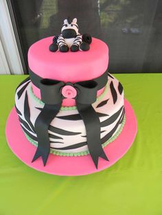lime green/Pink/Zebra Theme Baby Shower Party Ideas | Photo 1 of 16 | Catch My Party