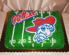 Astounding 38 Best Desserts Ole Miss Theme Images Ole Miss Miss Cake Funny Birthday Cards Online Fluifree Goldxyz