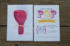 "POP Baby Shower Invitation, ""She's gonna POP"" Invite Custom Shower Invites - Quantity 25 via Etsy"