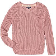 Loose stitch knit sweater