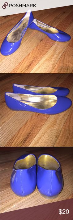 Colin Stuart Ballet Flats Shoes Colin Stuart Royal Blue Ballet Flats. Size: 7.5 B. Excellent Condition, worn only once. Patent leather like material. Colin Stuart Shoes Flats & Loafers