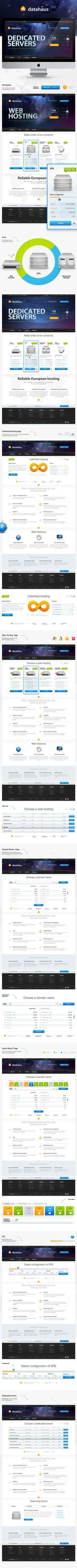 Datahaus by tdeser, via #Behance #Webdesign