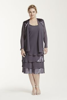 Chiffon Plus Size 3 4 Sleeve Jacket Mother of Bride Groom Dress with  Shoulder 5966fe069