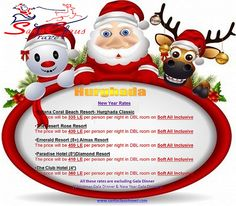 Hurghada new year Christmas Offers, Beach Resorts, Egypt, Santa, Hot, Travel, Viajes, Resorts, Torrid