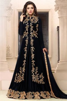 490542 Black and Grey color family Party Wear Salwar Kameez in Faux Georgette fabric with Bugle Beads,Machine Embroidery,Thread,Zari work . Muslim Fashion, Hijab Fashion, Fashion Dresses, Pakistani Dresses, Indian Dresses, Eid Dresses, Wedding Dresses, Party Wear Lehenga, Party Dress