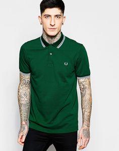 De fedeste Fred Perry Polo Shirt with Tipping Slim Fit - Ivy Fred Perry Plain til Herrer i lækker kvalitet