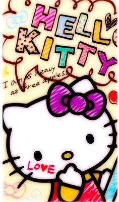 Kitty Hello Kitty Backgrounds, Hello Kitty Wallpaper, Kawaii Wallpaper, Love Wallpaper, Wallpaper Backgrounds, Iphone Wallpaper, My Melody Sanrio, Sanrio Hello Kitty, Little Twin Stars