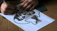 Airbrush tips - how to make and use airbrush stencils part 1