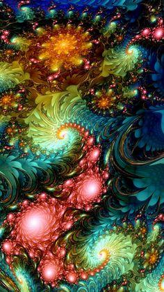 23 Ideas For Wallpaper Computer Mandala Fractal Art Fractal Images, Fractal Art, Fractal Geometry, Fractal Design, Illusion Art, Visionary Art, Psychedelic Art, Amazing Art, Fantasy Art