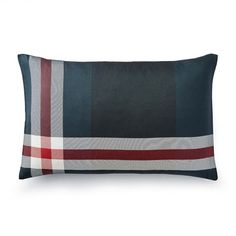Tartan Printed Silk Lumbar Pillow Cover, Castlebay