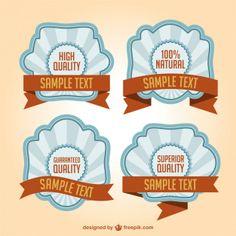 Promotional stickers retro design