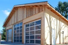Built with clear span trusses, this shop has three roll-up door openings across the 36' wide front giving you access to the perfect work or storage space. Full walls of tongue and groove are provided without the garage doors which allows door sizes to be determined by the owner. The Tradesman garage is adaptable to any style or function.
