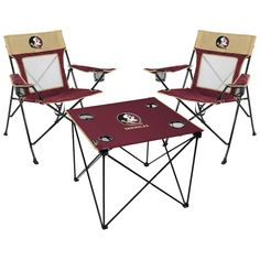 Florida State Seminoles Rawlings Deluxe 3-Piece Tailgate Chair u0026 Table Kit  sc 1 st  Pinterest & 18 Best tailgate chairs images | Automotive decor Automotive ...