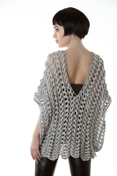 Ravelry: Mercury pattern by Heather Dixon Crochet Ponchos, Crochet Tops, Crochet Blouse, Crochet Scarves, Crochet Clothes, Knit Crochet, Crochet Crafts, Crochet Projects, Pulls