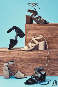 You don't have to save suede for winter. Stroll through summer in these lace-up, block heeled sandals by Stuart Weitzman.