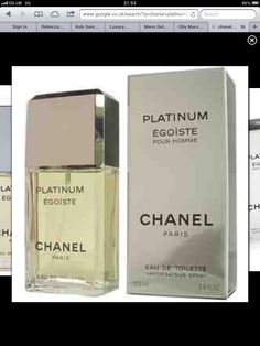 Chanel platinum my favourite aftershave