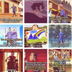 Sokka moments. But a select few out of MANY. And by many, well, just watch the show, you'll get it.
