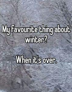 Definitely this winter?