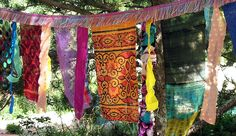 Glitzy Gypsy Celebration Flags with multicolor fringe by ArtToGo, $30.00