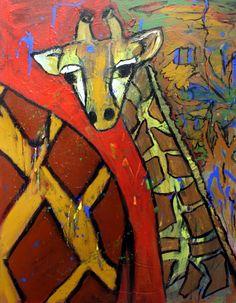 Giraffe by Jane Hinrichs Giraffe Painting, Giraffe Art, Paintings I Love, Animal Paintings, Jungle Art Projects, Zoo Drawing, Giraffe Images, Wildlife Art, Elementary Art