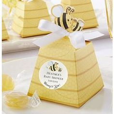 Personalized Sweet As Can Bee Favor Boxes