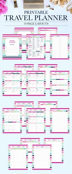 15 FREE Trip Planner Printables for Your Next Vacation! Travel