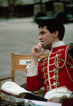 """Elvis Presley is pictured on the set of his movie """"Frankie And Johnny"""" (United Artists) that was filmed at MGM's Hollywood lot in May/ June 1965 and premiered in Baton Rouge, Lousiana on March Priscilla Presley, Lisa Marie Presley, King Elvis Presley, Elvis Presley Movies, Blue Hawaii, Ann Margret, Fred Astaire, Robin Williams, Graceland"""