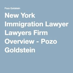 New York Immigration Lawyers Firm Overview - Pozo Goldstein
