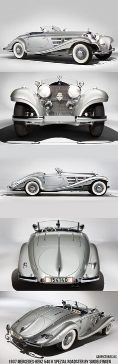 1937 Mercedes-Benz 540 K Spezial Roadster by Sindelfingen., via Dogs and Dolls