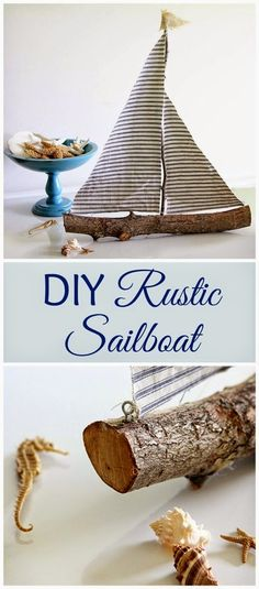 Best DIY Projects: Quick and easy DIY rustic sailboat made from a tree branch