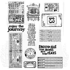 Tim Holtz Cling Mount Stamps - Going Somewhere CMS090