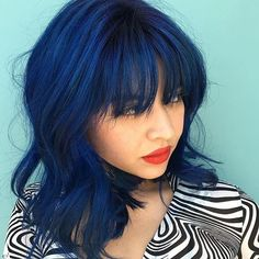 This beautiful navy blue created by @richardatkuthaus using Color Intensity Indigo+ Sapphire Blue  #colorintensity #joicointensity #Vividhaircolor #joico #hairjoi #fashioncolor