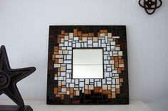 mirror Mosaic Art, Mosaics, Garden Art, Art Pieces, Moon, Mirror, Studio, Frame, Artist