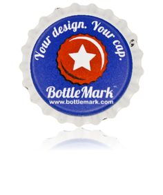 Bottlemark.com you can get 100 beer bottle caps for under $20 with your own logo on it!!!