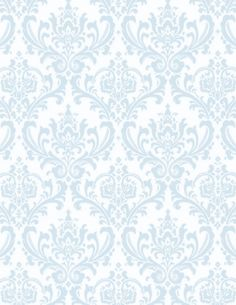 Blue Damask Wallpaper. If we can't be classy, we can fake classy.