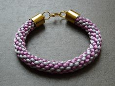 kumihimo bracelet multi-color satin cord by HobbyANDme on Etsy