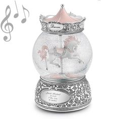Personalized Carousel Horse Musical Water Globe , Add Your Message. For Cadence's present