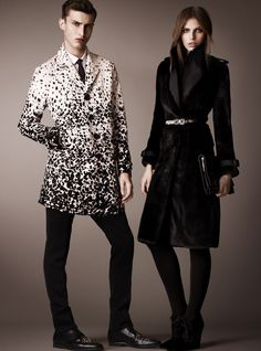 Charlie France Steps Out in Burberry Prorsums Pre Fall 2013 Collection