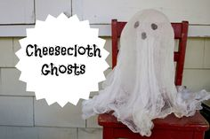 Easy Halloween Decorations: Cheesecloth Ghosts www.ct.mommypoppins.com
