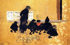On the Way to School.1895 by Pierre Bonnard
