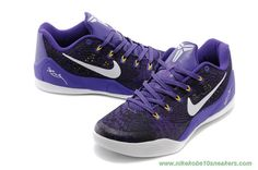 Purple/White Nike Kobe 9 EM 653972-601 Coupons Sale