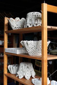 DIY Cement Lace Bowl