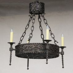 Spanish Style Wrought Iron Chandelier-Lights of Tuscany - Stairwell